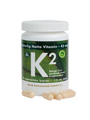 K2 vitamin 45 mcg   naturlig natto