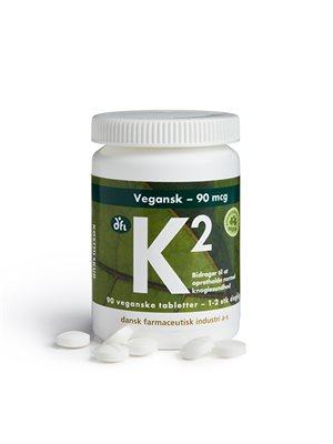 K2 vitamin 90 mcg vegetabilsk