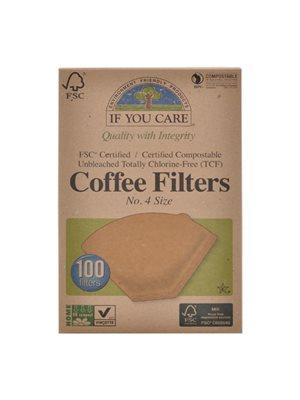 Kaffefilter ubleget no. 4