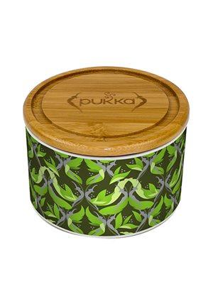 Keramik krukke Supreme Matcha Green m. 10 tebreve Ø