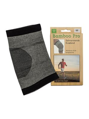 Knæbind, Str. M selvvarmende Bamboo Pro