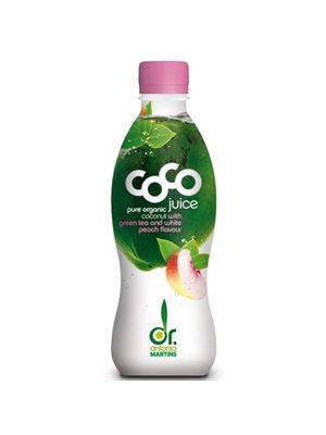 Kokosjuice m. Green tea,   White Peach Ø Dr. Martins