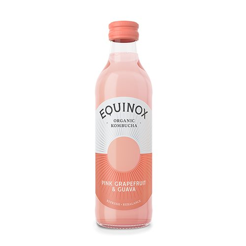Equinox Kombucha Te Pink Grape/Guava Ø