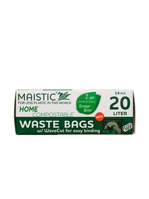 Komposterbar Affaldspose til at binde  20 L