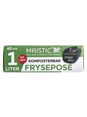 Komposterbare fryseposer 1L