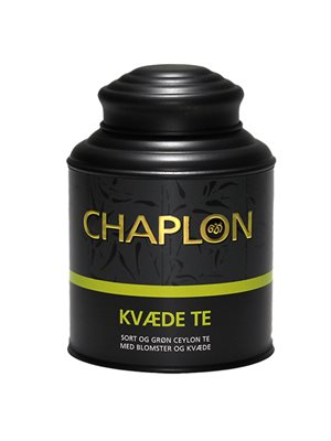 Kvæde sort/grøn te dåse Ø
