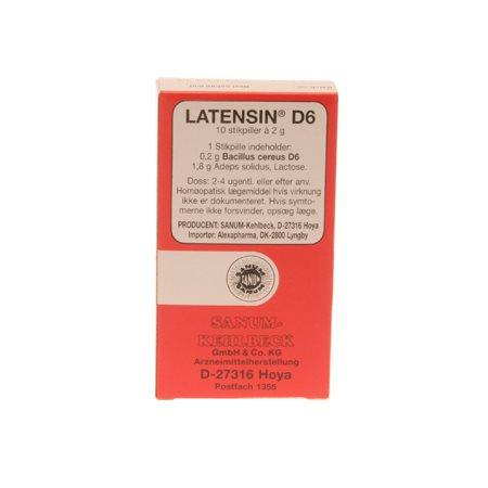 Latensin D6 stikpiller 10 stk