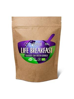 Life Breakfast Blåbær & Chia Ø Protein Granola RAW