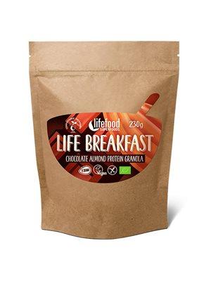 Life Breakfast Chokolade &  Mandel Protein Granola RAW Ø
