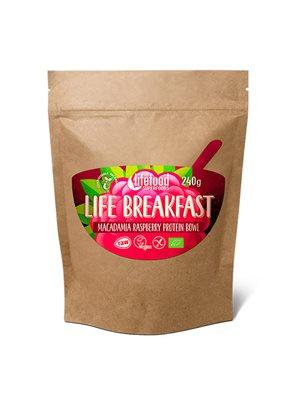 Life Breakfast Ø Macadamia & Hindbær Protein blanding RAW