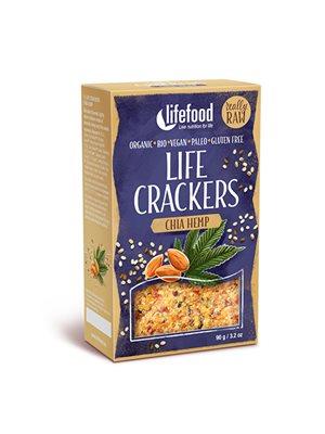 Life Crackers m. Chia & Hampefrø RAW Ø