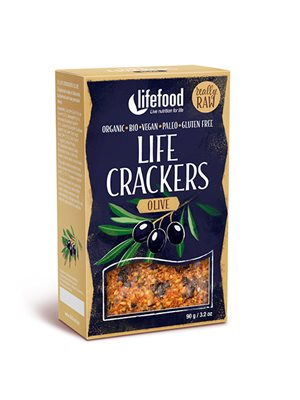 Life Crackers m. Oliven RAW Ø