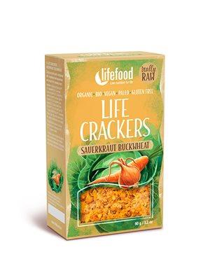 Life Crackers m. Sauerkraut & Boghvede RAW Ø