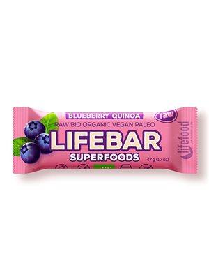 LifeBar Blåbær Quinoa RAW Ø