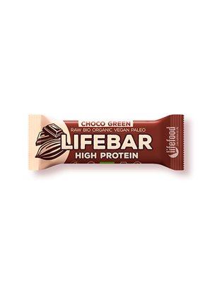 LifeBar Choco Green Proteinbar RAW Ø