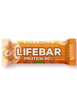 LifeBar Nødder Vanilje Ø Proteinbar