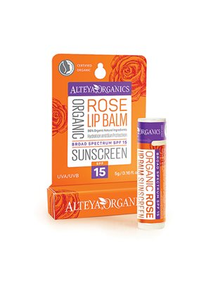 Lipbalm rose sunscreen spf 15 Alteya Organics