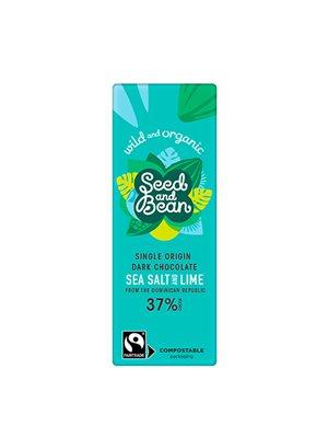 Mælkechokolade 37% Cornish Sea Salt & Lime Ø