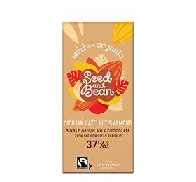 Mælkechokolade 37%  Hasselnød & Mandel Ø Seed & Bean
