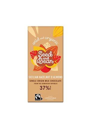 Mælkechokolade 37%  Ø m.  Hasselnød & Mandel