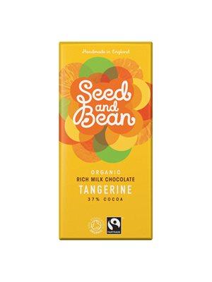 Mælkechokolade 37% tangerin  (citrus) Ø Seed & Bean