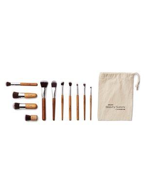 Makeup børster og penselsæt  11 stk med bambus skaft