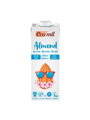 Mandeldrik m. calcium Ecomil Ø u. sukker