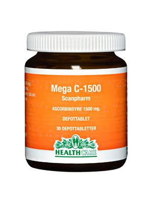Mega C 1500 mg HealthCare