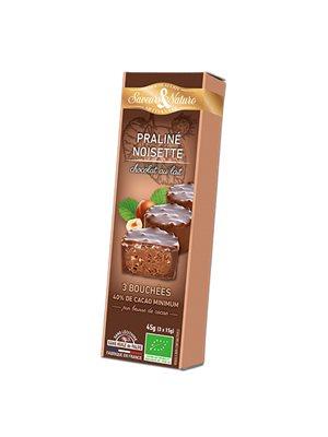 Minitærte Hasselnød & lys Ø Chokolade 3 stk