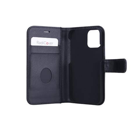 Mobilcover iPhone 12 MINI sort PU