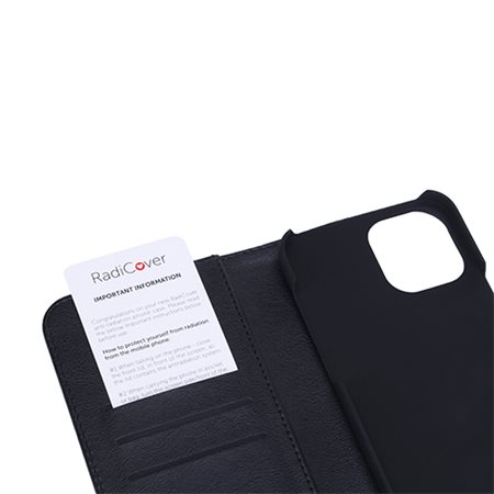 Mobilcover iPhone 12 PRO MAX sort læder