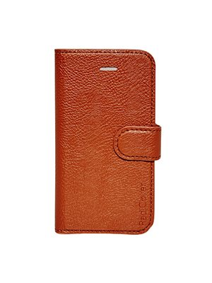 Mobilcover Iphone 4/4S cognac brun, flip-side, RadiCover