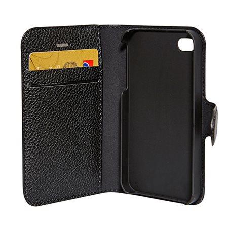 Mobilcover Iphone 4/4S sort flip-side, RadiCover