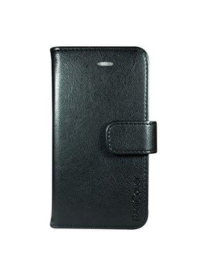 """Mobilcover iPhone 5/5S/SE sort """"Fasion"""", PU læder, flipside"""