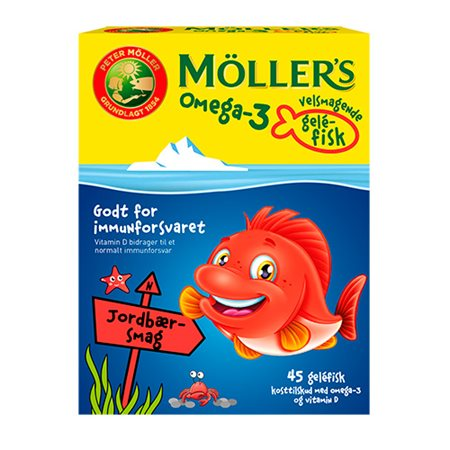 Møllers Omega-3 fisk Jordbær