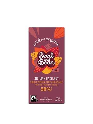 Mørk Chokolade 58% Hasselnød Ø Seed & Bean