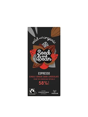 Mørk Chokolade 58% Kaffe  Espresso Ø Seed & Bean