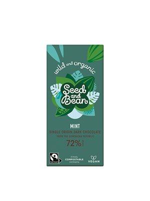 Mørk chokolade 72% m. mint Ø Seed & Bean