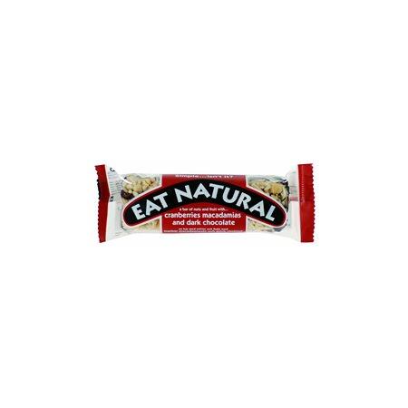 Mørk chokolade med tranebær og macadamia Eat natural
