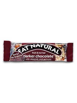 Mørk chokoladebar m. mandler  og abrikoser Eat Natural