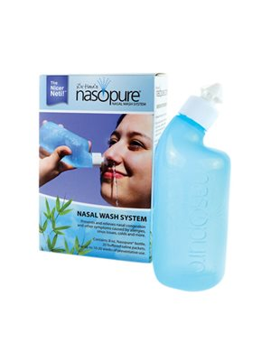 Næse skyllesystem Nasopure indeh. 1 stk 237 ml flaske, 20 stk. salt