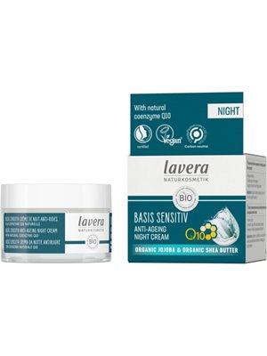 Natcreme Q10 Anti-Age Lavera Basis sensitiv