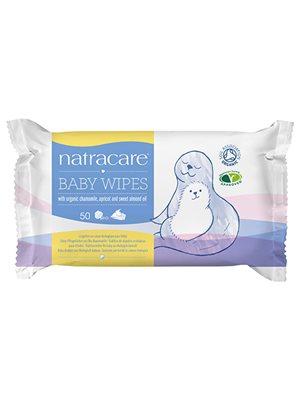 Natracare baby vådservietter  100% bomuld