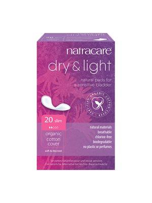 Natracare Dry & Light 20 stk. (inkontinens) indpakket enkeltvis