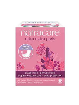 Natracare ultra extra bind long og m. vinger