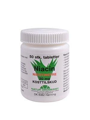 Niacin (nikotinsyre) 30 mg