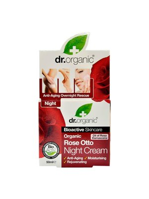 Night cream Rose Otto Dr.  Organic