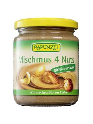 Nøddecreme ren 4 nødder Ø