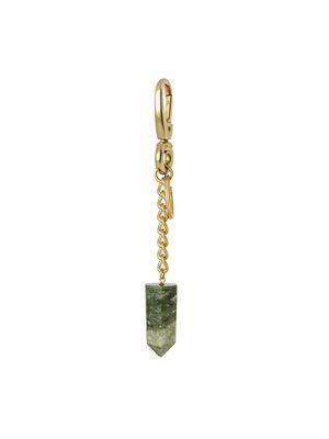 Nøglering med Grøn Jade