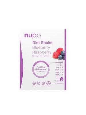 Nupo diet shake blåbær & hindbær  blåbær